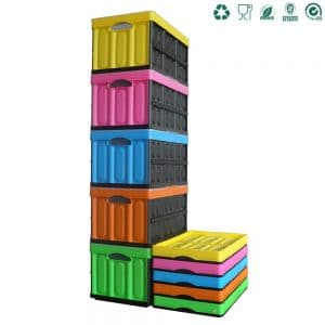 colorful clevermade plastic foldable box